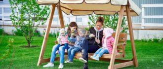 Садовые качели - радость и комфорт для всей семьи